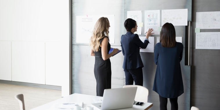 Image: Businesswomen brainstorming in conference room