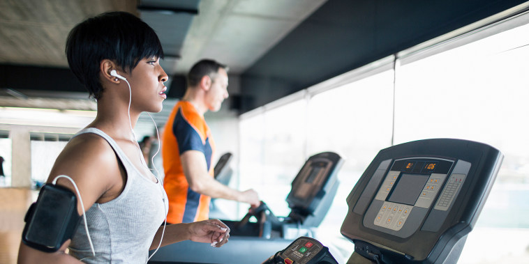 Image: Running on the treadmill