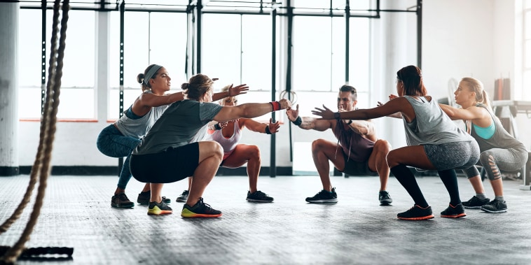 Image: Fitness Group WOrking Out