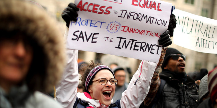 Image: Protestors Rally At FCC Against Repeal Of Net Neutrality Rules