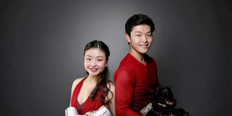 Image: Ice dancers Alex Shibutani and Maia Shibutani pose for a portrait at the U.S. Olympic Committee Media Summit in Park City