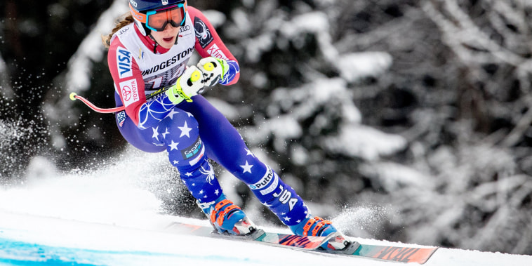 Image: Laurenne Ross of the U.S. in action during the training for the women's downhill race of the FIS Alpine Ski World Cup event in Garmisch-Partenkirchen, Germany, on Feb. 3, 2018.