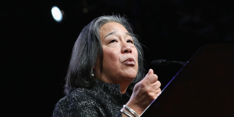 Image: Tina Tchen speaks during the 30th Anniversary Celebrating Women Breakfast
