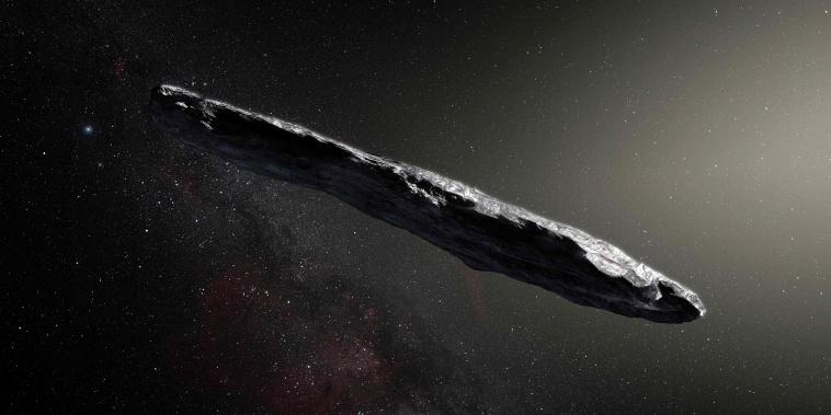 Image: Artist Impression of Asteroid Oumuamua