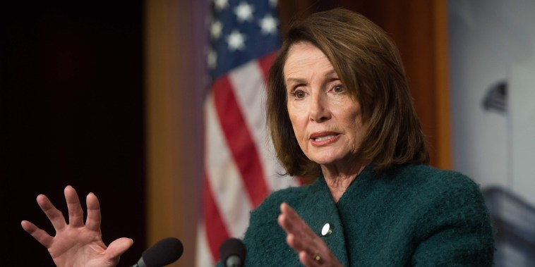 Image: House Democratic Leader Nancy Pelosi speaks about the Omnibus budget deal during a press conference