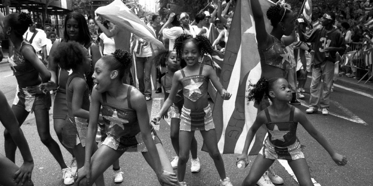 Image: Puerto Rican Day Parade dancers on Fifth Avenue in New York
