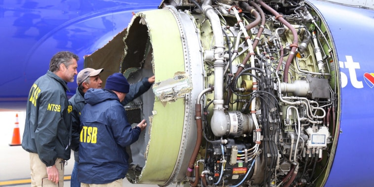 Image: Southwest Airlines engine explodes in flight
