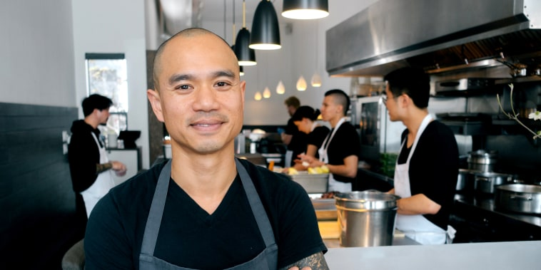 Image: James Syhabout, chef and co-owner of Michelin-starred restaurant Commis in Oakland, California.