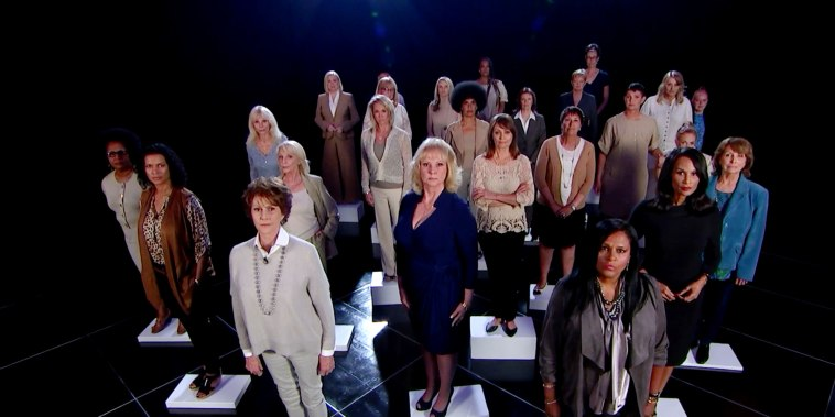 More than two dozen of Bill Cosby's accusers gathered in the same room for an exclusive group interview to share their stories.