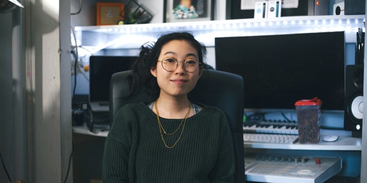"Image: Awkwafina's 2018 film credits will include ""Ocean's 8"" and ""Crazy Rich Asians."""