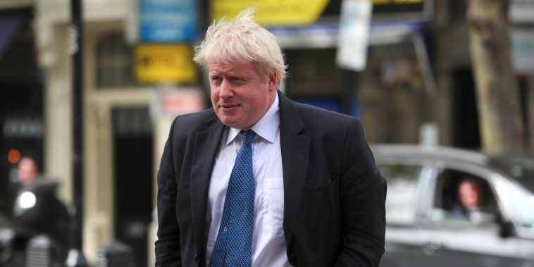 Image: Britain's Boris Johnson is in Washington Monday.