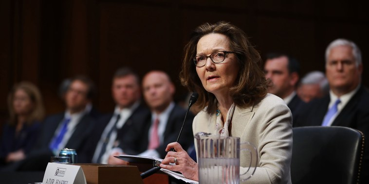 Image: Gina Haspel testifies before the Senate Intelligence Committee