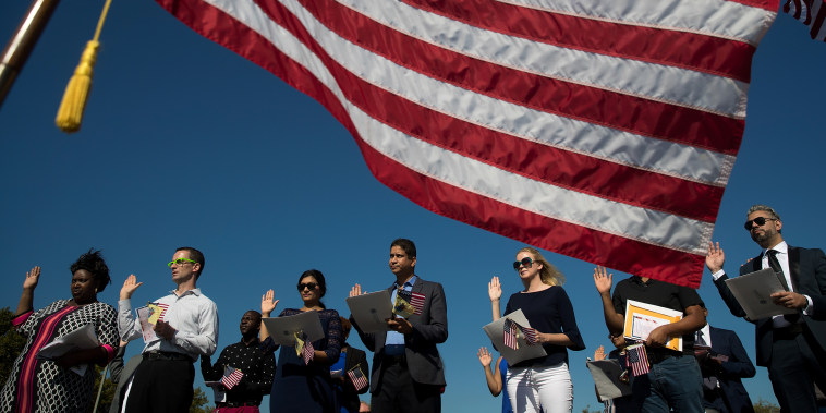 Image: On Citizenship Day, Naturalization Ceremony Held In New Jersey