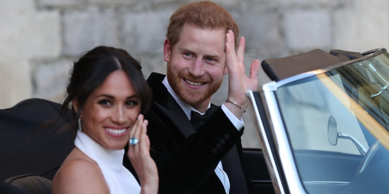 Prince Harry and Meghan at Windsor Castle