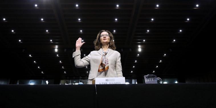 Image: Gina Haspel is sworn in