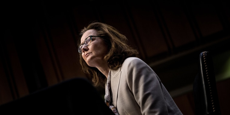 Image: CIA nominee Gina Haspel listens during her confirmation hearing