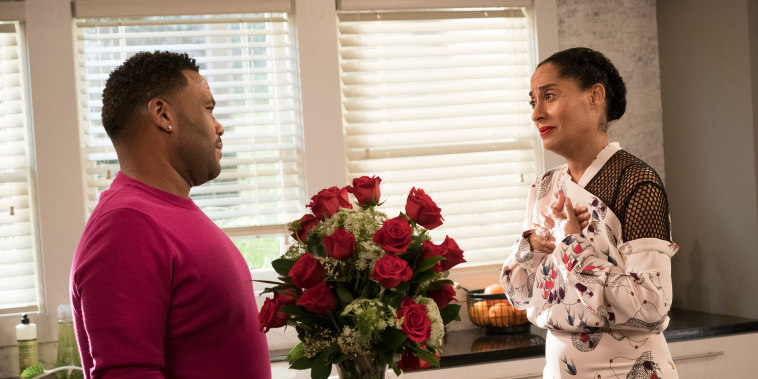 """Image: Anthony Anderson and Tracee Ellis Ross in season finale of ABC's """"black-ish."""""""