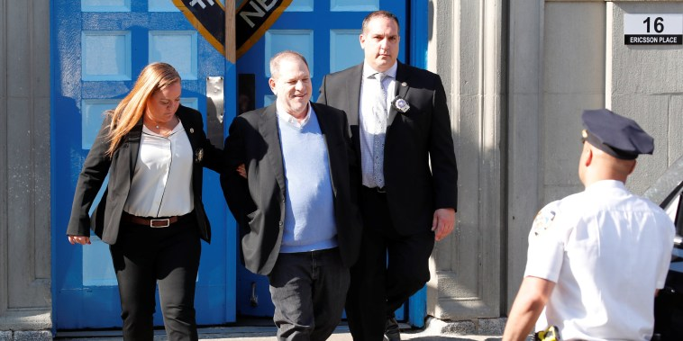 Image: Harvey Weinstein leaves the 1st Precinct