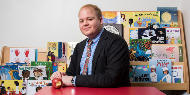 Washington Post Principal of the Year Ryan Tauriainen, at the Apple Tree Institute