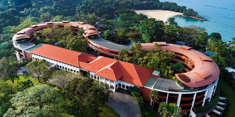 Image: A view shows the Capella Hotel, the venue for the June 12 summit between U.S. President Donald Trump and North Korean leader Kim Jong Un, on Singapore's resort island of Sentosa