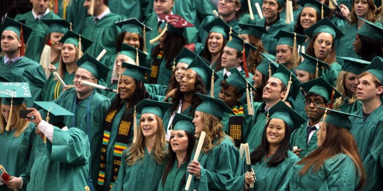 Graduating Michigan State University students in 2012.