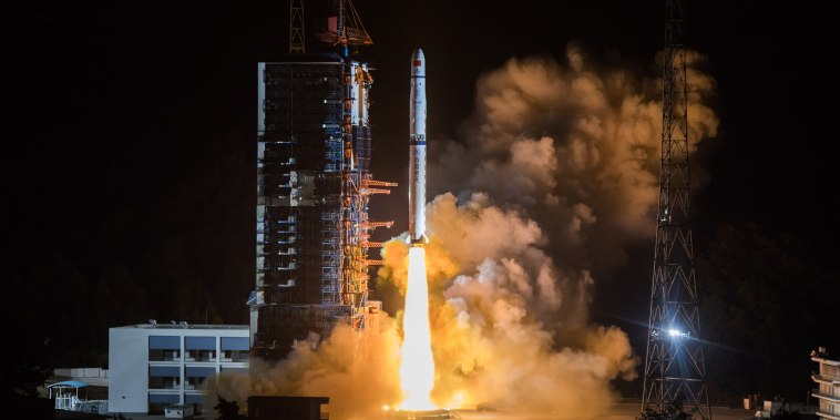 Image: China launches relay satellite to explore Moon's far side