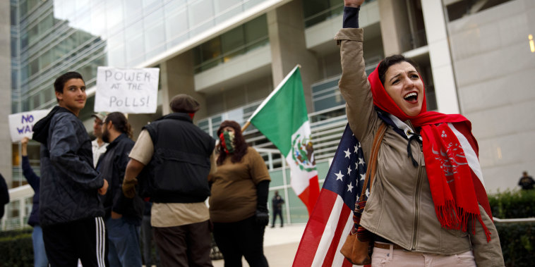 Demonstrators Protest Ahead Of The First California Visit By President Trump