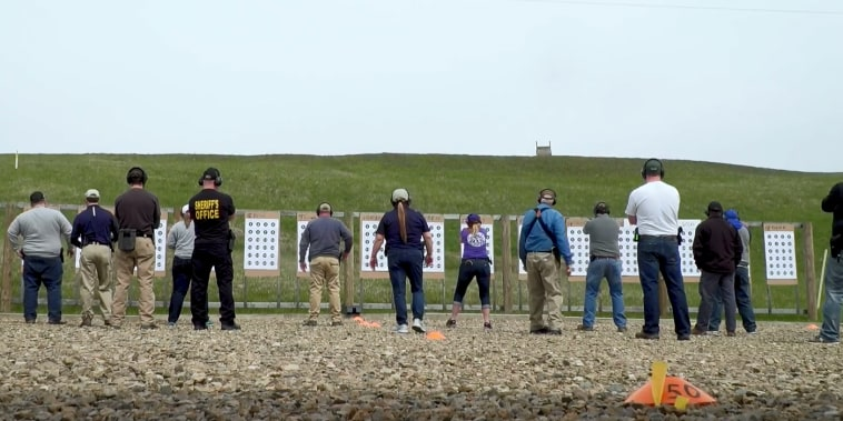 Image: Teachers train to carry and use firearms in Newcomerstown, Ohio