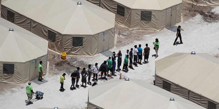 Image: New Tent Camps Go Up In West Texas For Migrant Children Separated From Parents