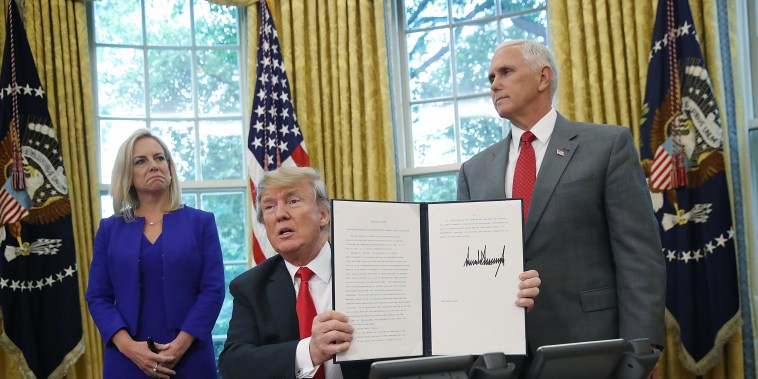 Image: President Trump Signs Executive Order Ending Family Separations At Border