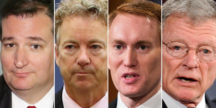 Image: Sens. Ted Cruz, Rand Paul, James Lankford, Jim Inhofe