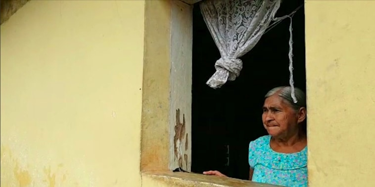 Maria Mancia, 78, in her home in Macuelizo, Honduras. Her daughter Iris and grandson Ederson were separated last week after crossing the U.S. border illegally.