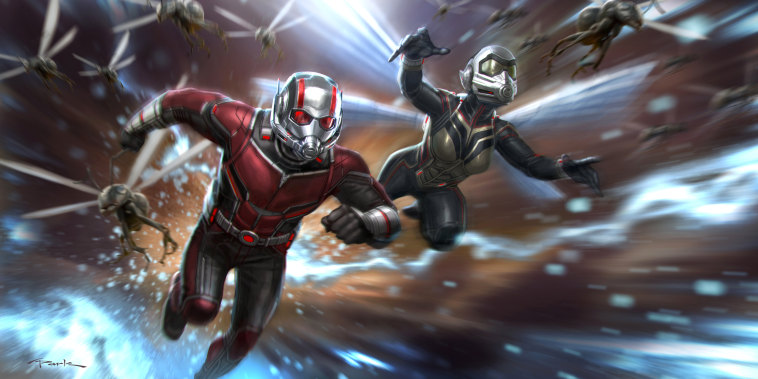 Image: Scott Lang, played by Paul Rudd, and The Wasp, played by Evangeline Lilly