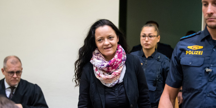 Image: Beate Zschaepe attends her sentencing hearing in Munich