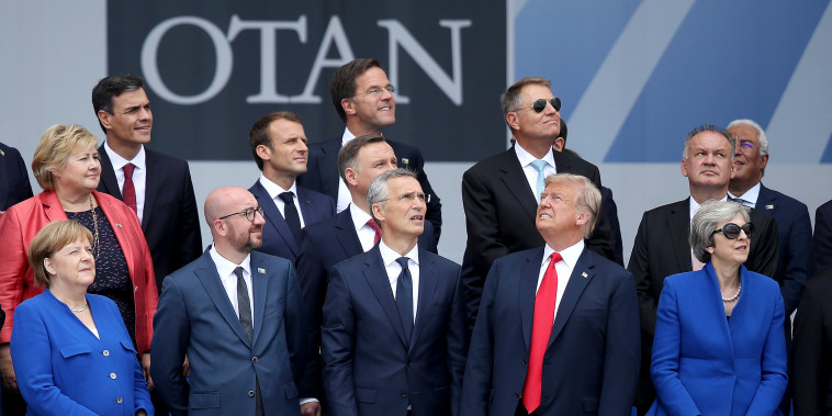 Image: World Leaders Meet For NATO Summit In Brussels