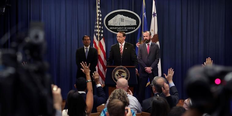 Image: Deputy Attorney General Rod Rosenstein