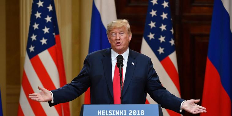 Instead of pressing Putin on meddling, Trump calls for Clinton, DNC servers