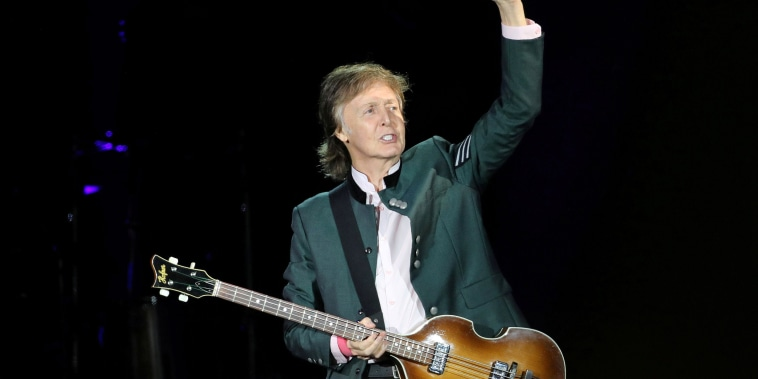 "Image: FILE PHOTO: Paul McCartney performs during the ""One on One"" tour concert in Porto Alegre"