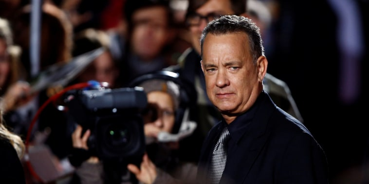 "Tom Hanks attends a screening of his film ""Inferno"" in Berlin"