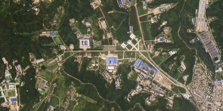 Image: A satellite image of the Sanumdong missile production site in North Korea