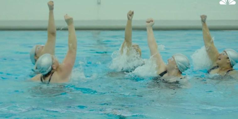IMAGE: Subversive Sirens synchronized swim team
