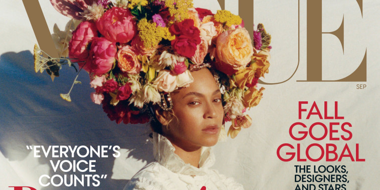 Beyonce is featured on the cover of the September issue of Vogue Magazine