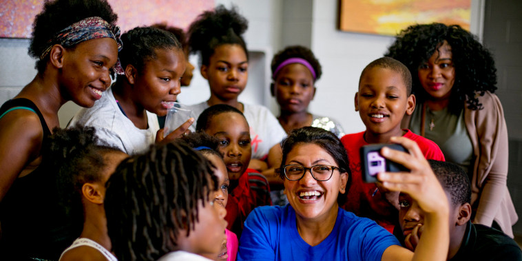 Image: Rashida Tlaib, a candidate for Michigan's 13th congressional district