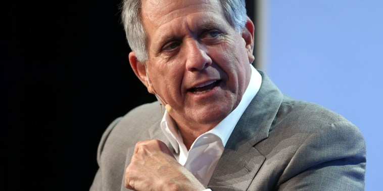 Image: Moonves speaks during the Milken Institute Global Conference in Beverly Hills