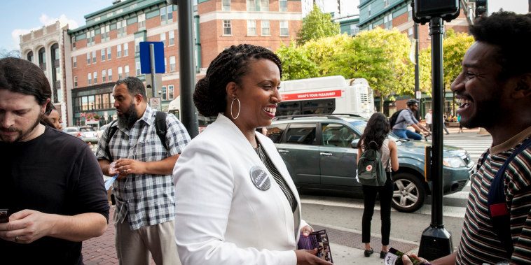 Image: Ayanna Pressley, a Democratic candidate for Congress
