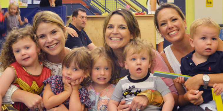 Savannah Guthrie, Jenna BNush Hager and Dylan Dreyer with their kids.