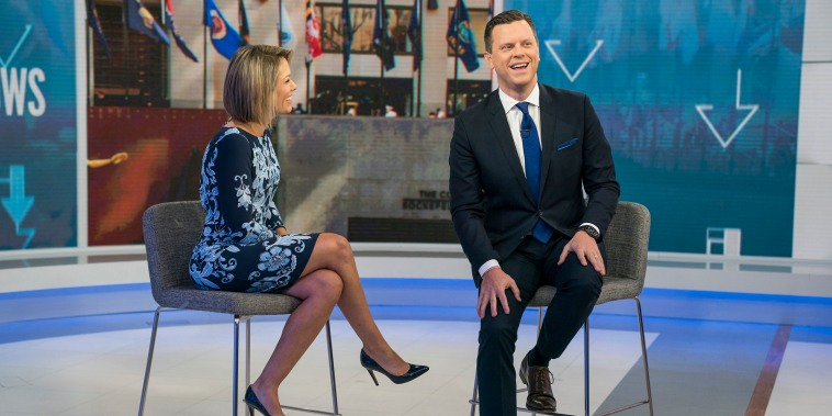 Dylan Dreyer and Willie Geist on Sunday TODAY