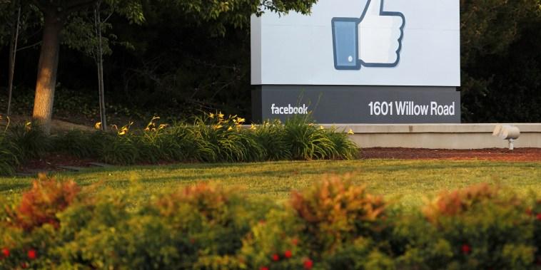 Image: Facebook's headquarters in Menlo Park, California.
