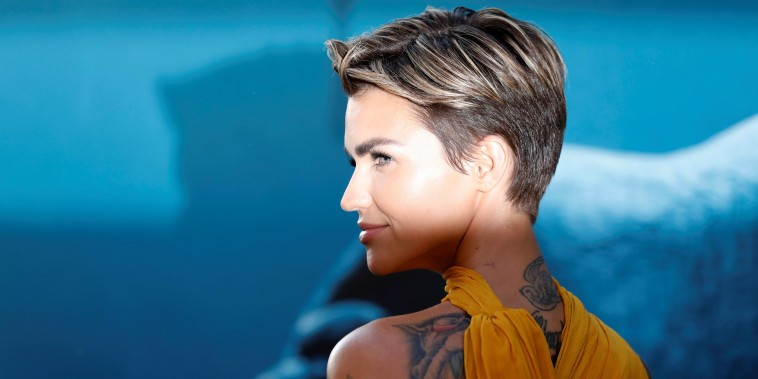 "Image: Ruby Rose poses at the premiere for ""The Meg"""