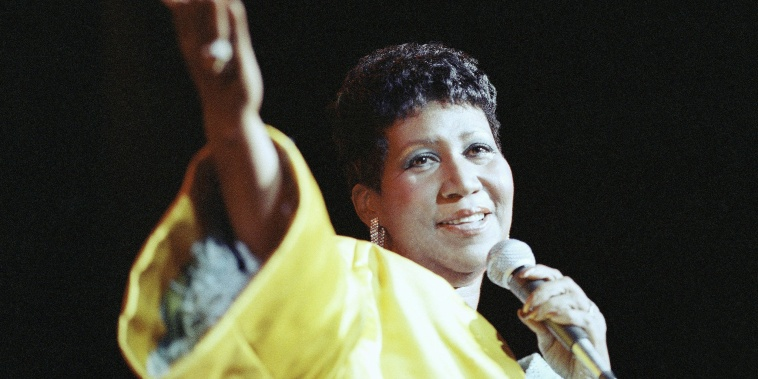 Image: Aretha Franklin performs at New York's Radio City Music Hall